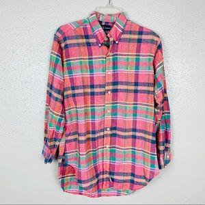 Ralph Lauren Blue Label Plaid Button Down Shirt